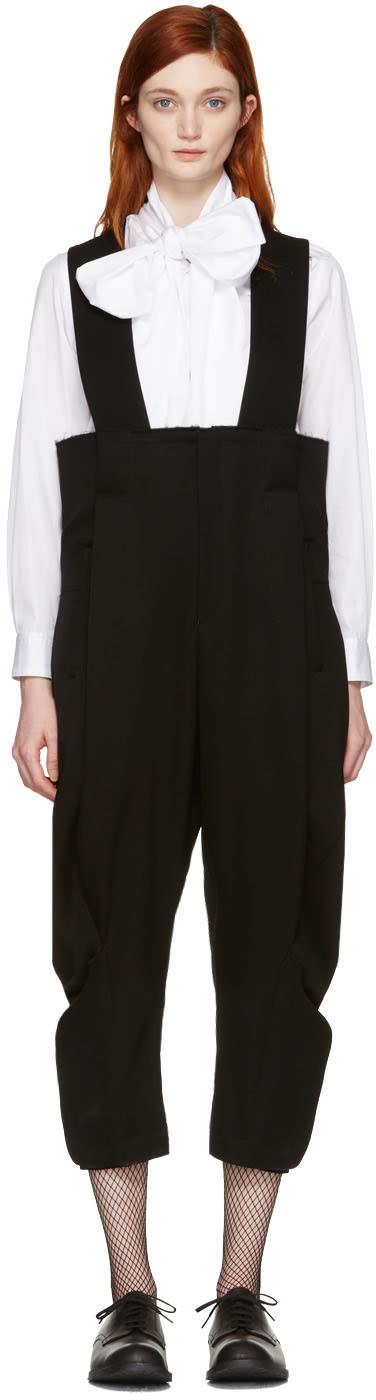 Comme Des Garcons Black Suspenders Trousers