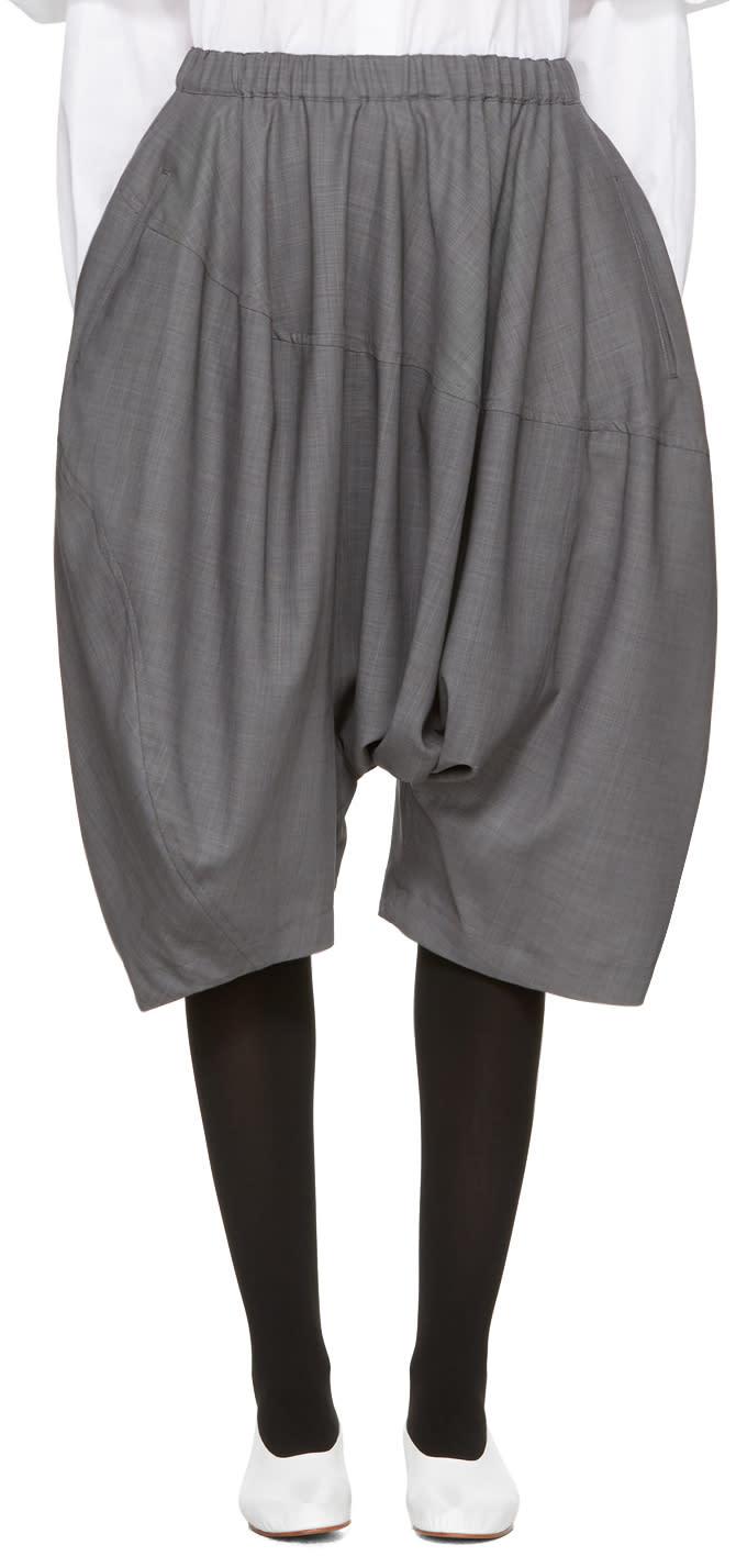 Comme Des Garcons Grey Long Drop Shorts