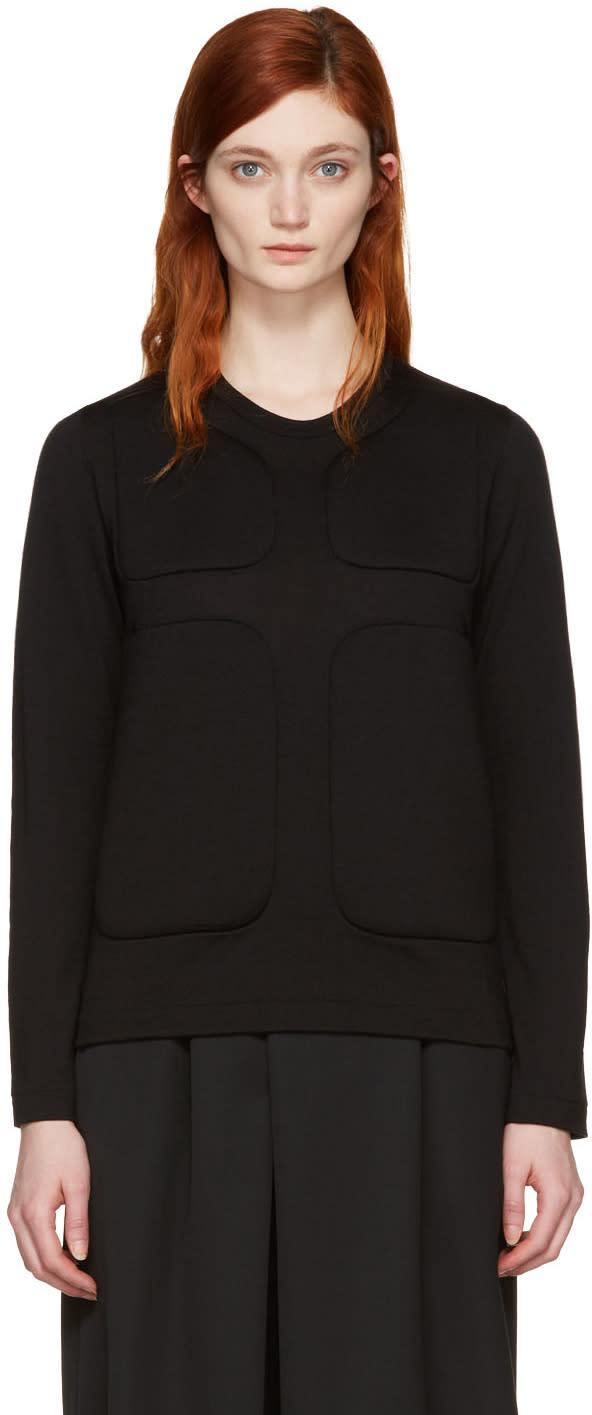Comme Des Garcons Black Padded Pullover