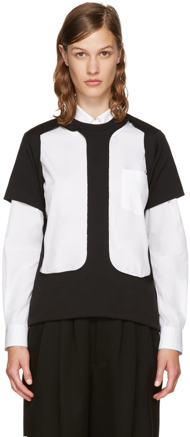 Image of Comme Des Garçons Black Cut-out T-shirt