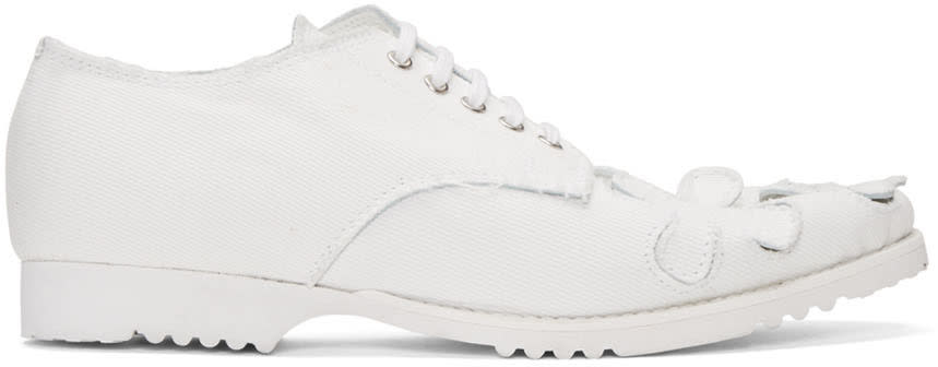 Comme Des Garcons White Washed Oxfords