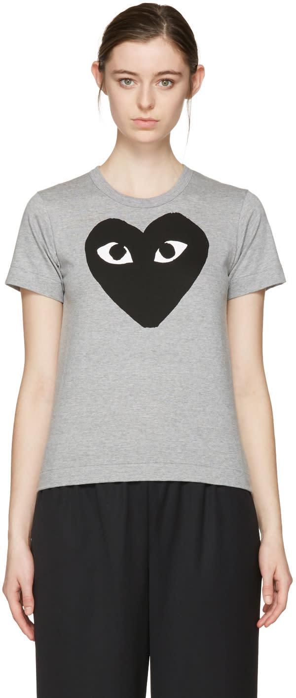 Comme Des Garçons Play Grey Big Heart T-shirt