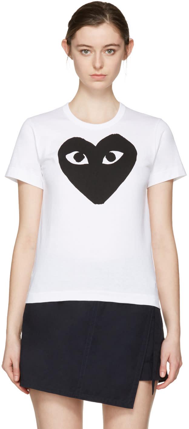 Comme Des Garçons Play White Heart T-shirt