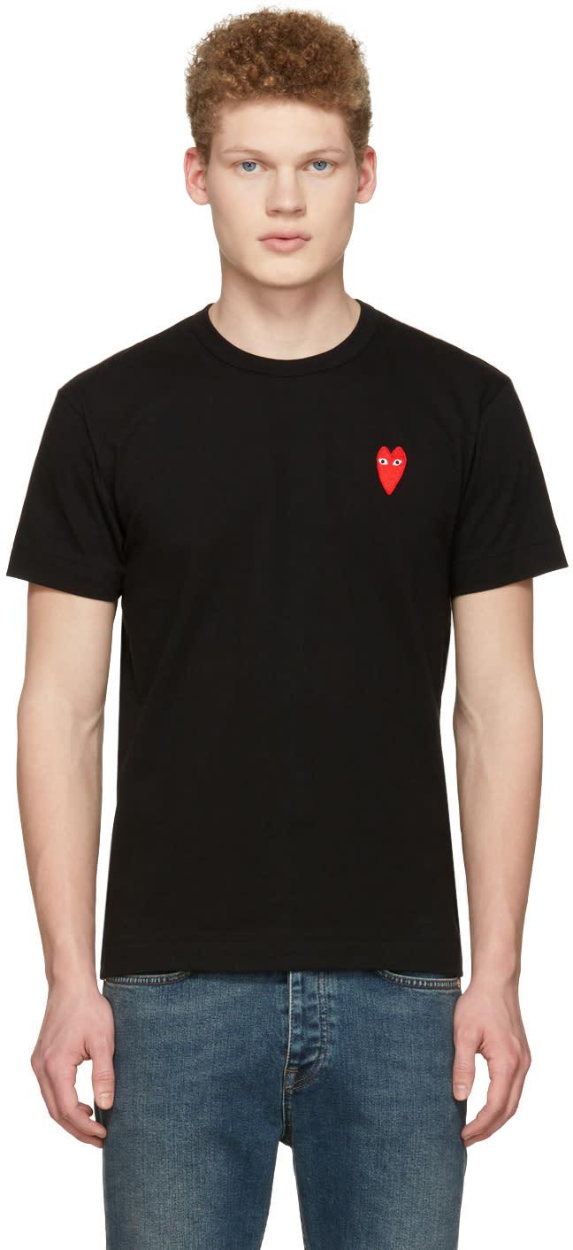Image of Comme Des Garçons Play Black Long Heart Face T-shirt