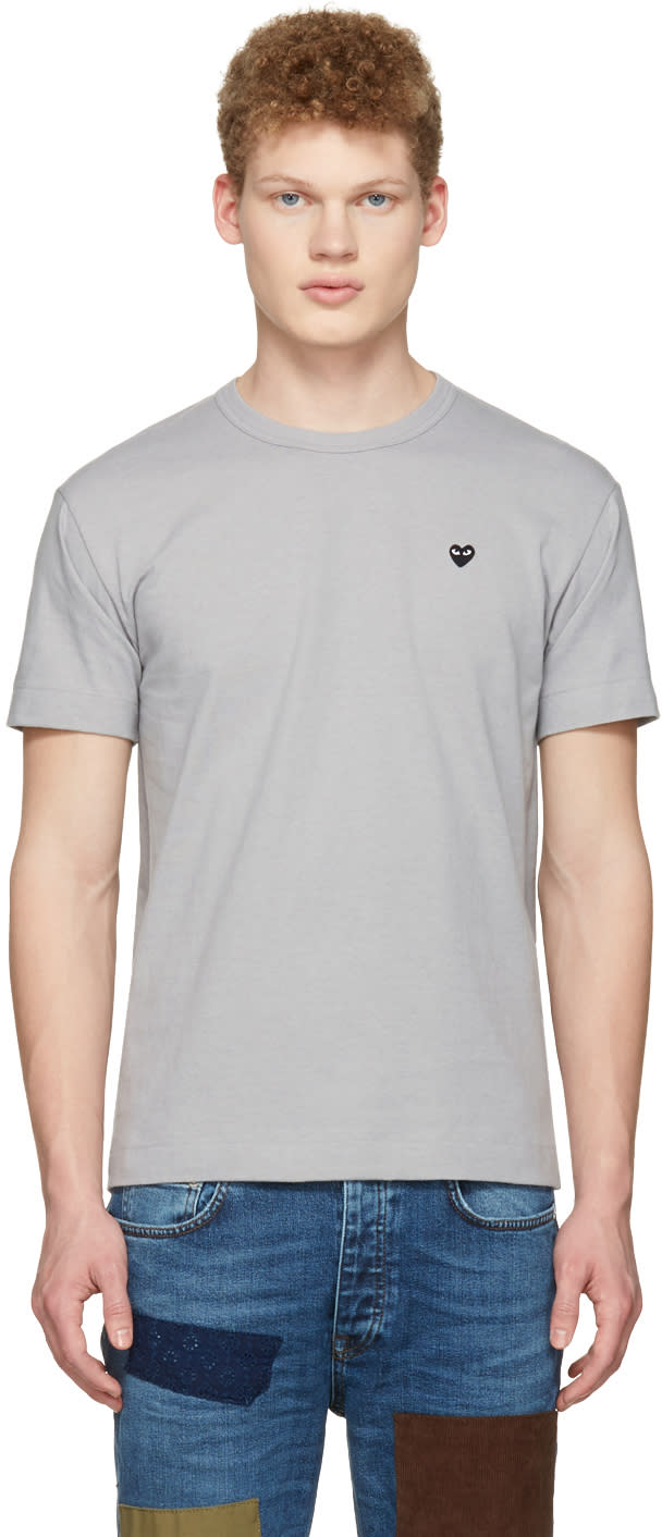 Comme Des Garçons Play Grey Small Heart T-shirt