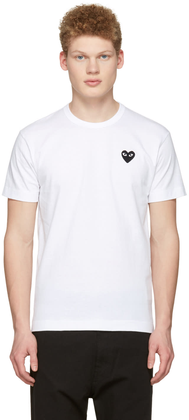 Comme Des Garçons Play White Heart Patch T-shirt