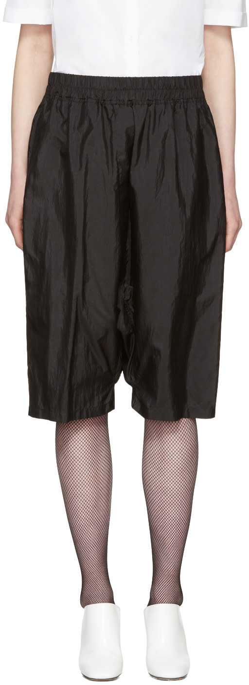 Image of Jil Sander Black Dropped Shorts