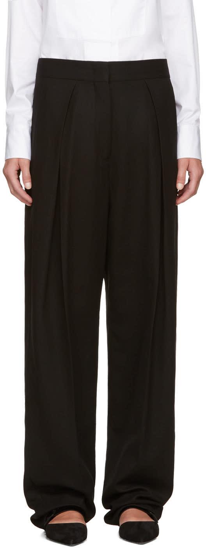 Jil Sander Black Pleated Trousers