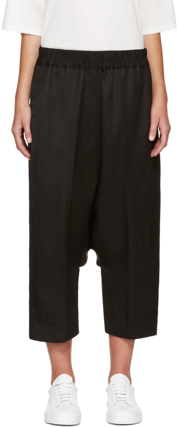 Image of Jil Sander Black Dropped Trousers