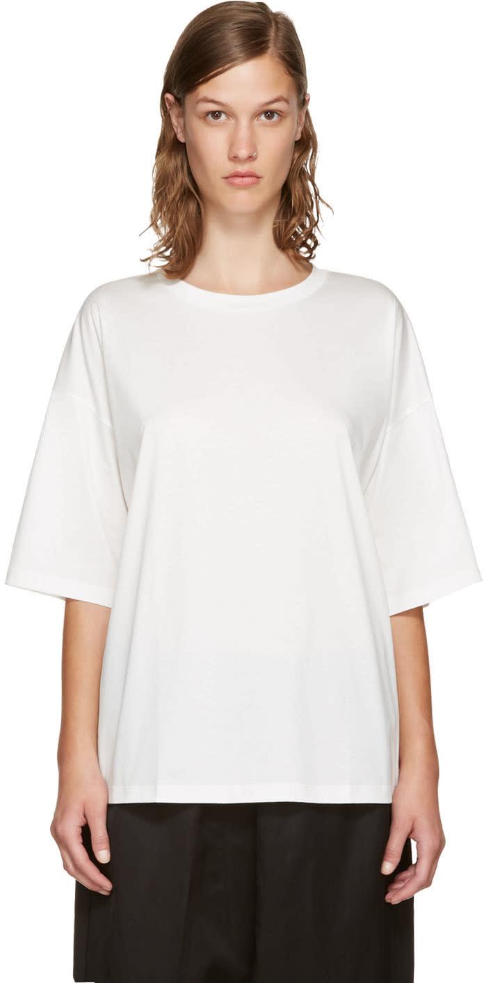 Jil Sander White Open Back T-shirt