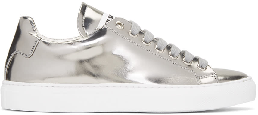 Jil Sander Silver Leather Sneakers