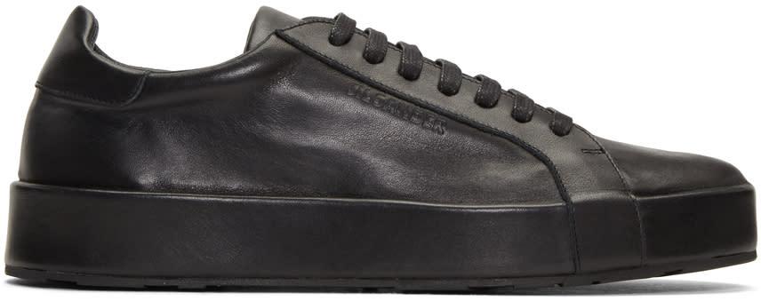 Jil Sander Black Leather Sneakers