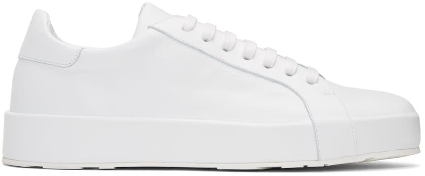 Jil Sander White Leather Sneakers