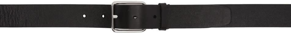 Jil Sander Black Leather Belt