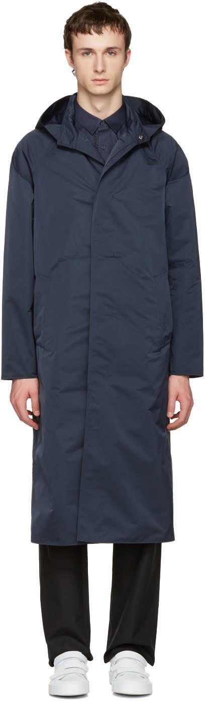 Jil Sander Navy Montecarlo Tech Coat