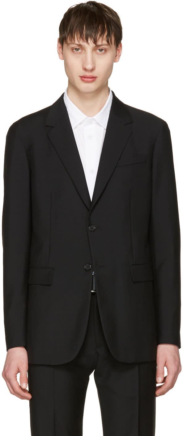 Jil Sander Black Two-button Suit Blazer