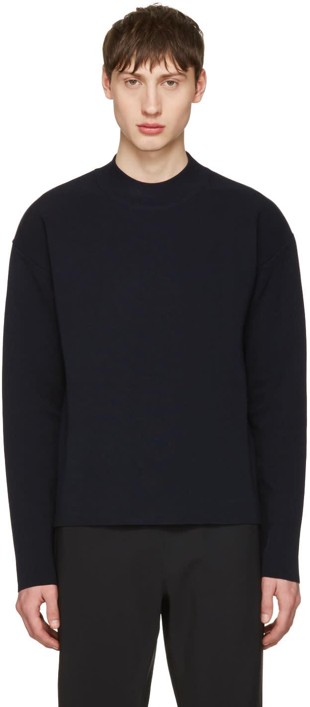 Jil Sander Navy Cotton Sweater