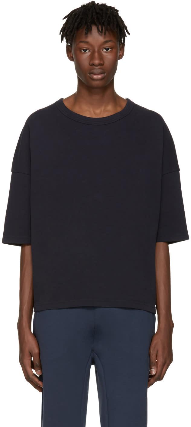 Jil Sander Navy Pique T-shirt