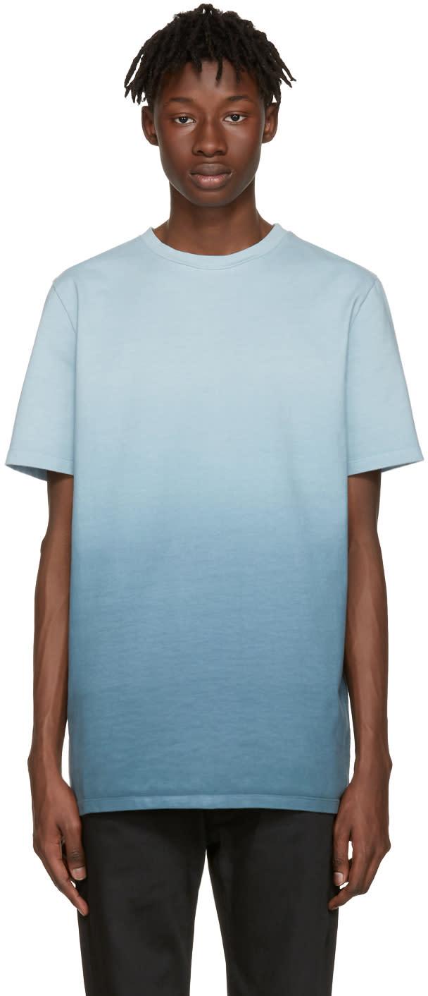 Jil Sander Blue Ombre Tie-dye T-shirt