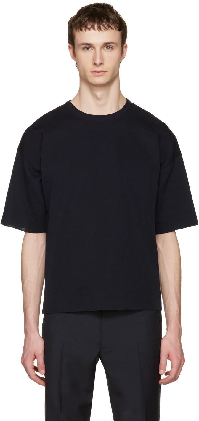 Jil Sander Navy Punto Roma T-shirt