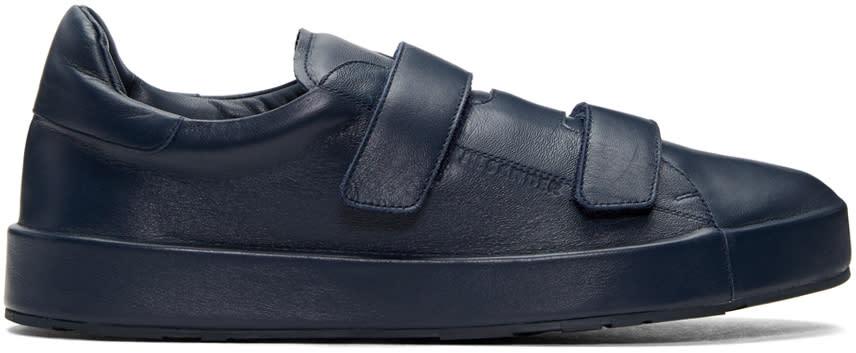 Jil Sander Navy Triple Velcro Sneakers