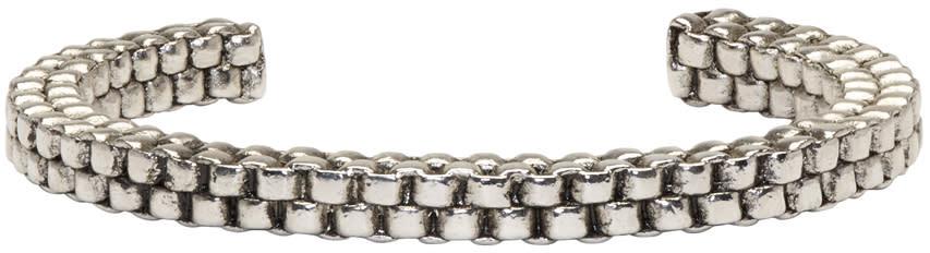 Balmain Silver Scoubidou Bracelet