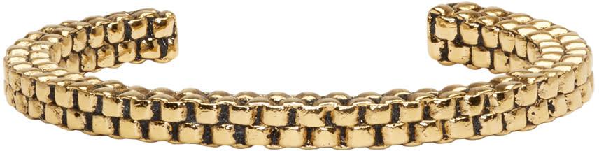 Balmain Gold Scoubidou Bracelet
