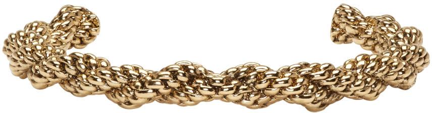 Balmain Gold Twist Scoubidou Bracelet