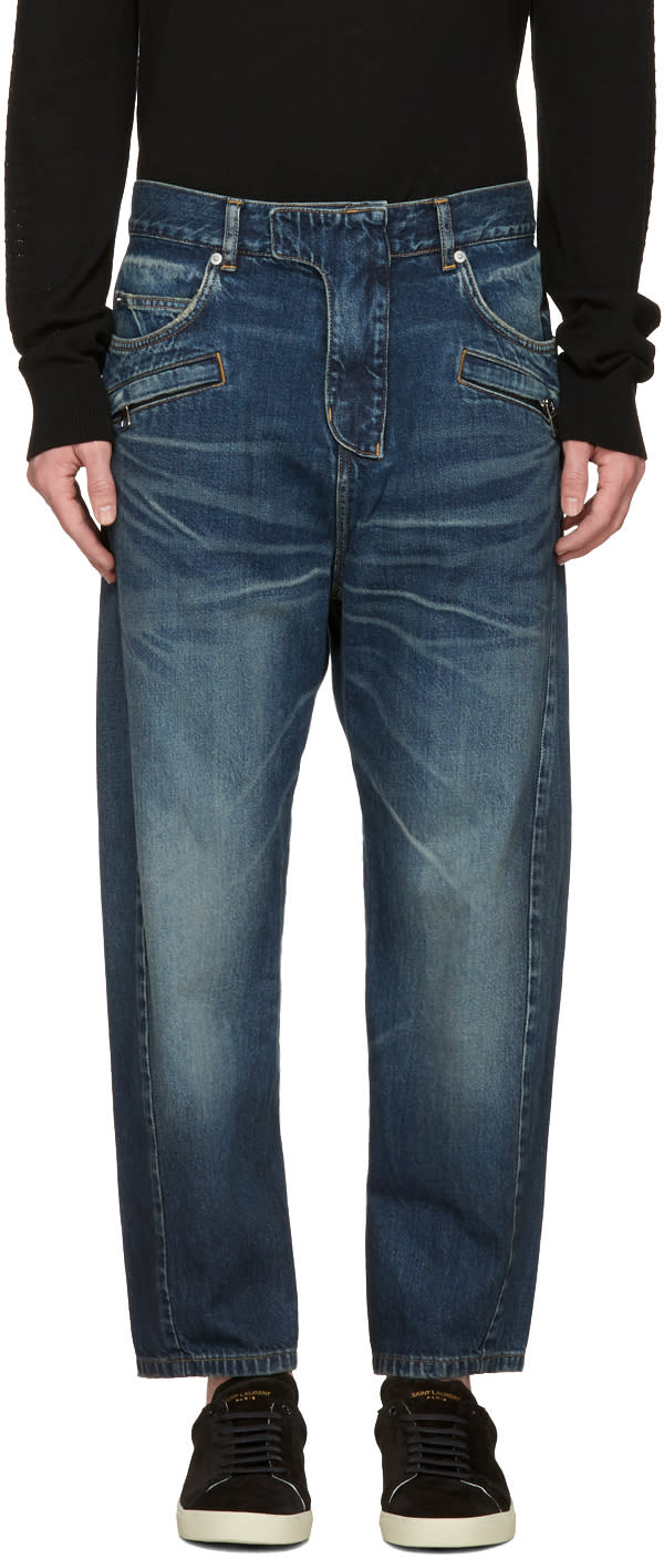 Balmain Blue Twist Jeans