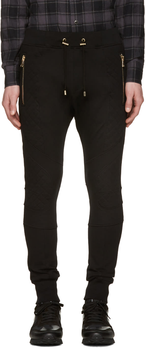 Balmain Black Diamond Lacing Lounge Pants