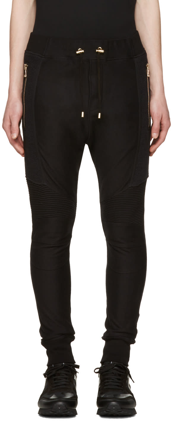 Balmain Black Perforated Lounge Pants