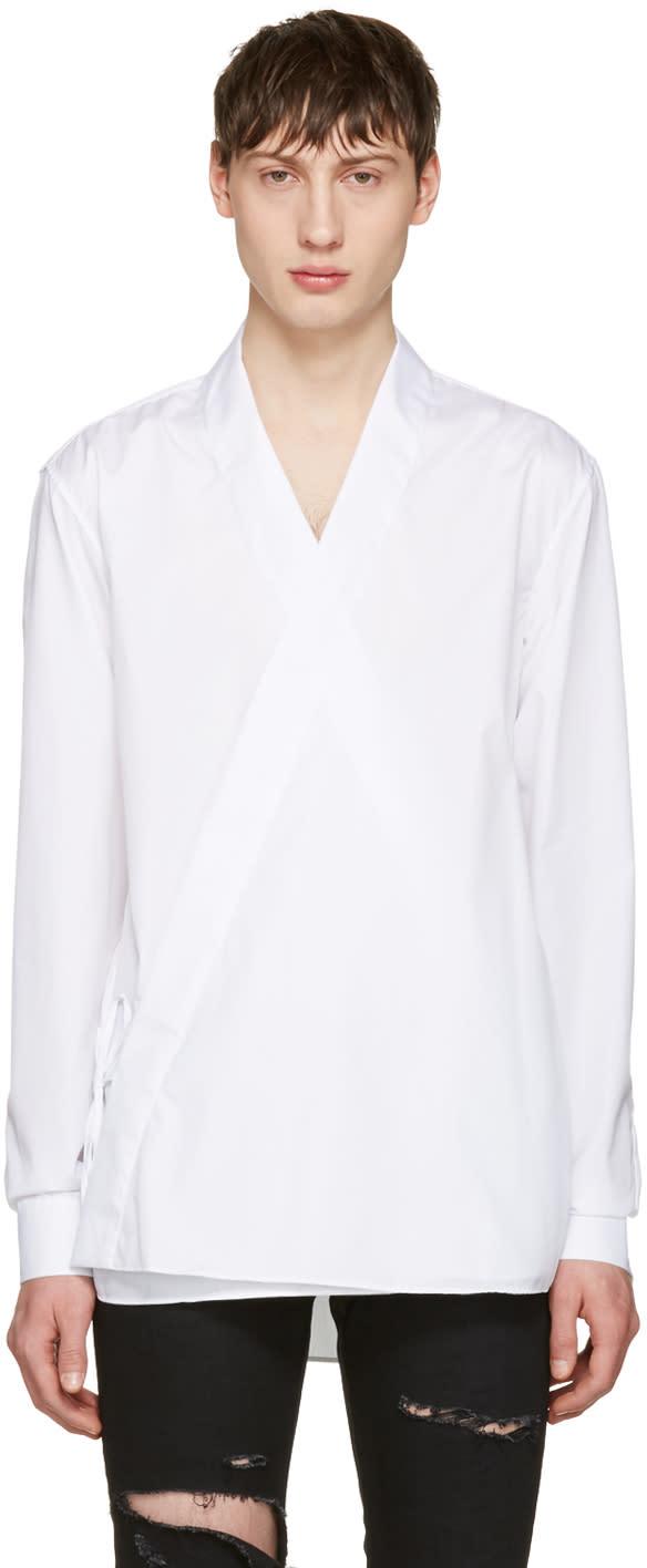Balmain White Kimono Shirt