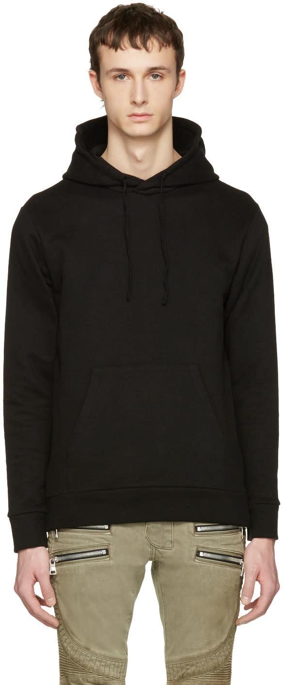Balmain Black Zip Hoodie