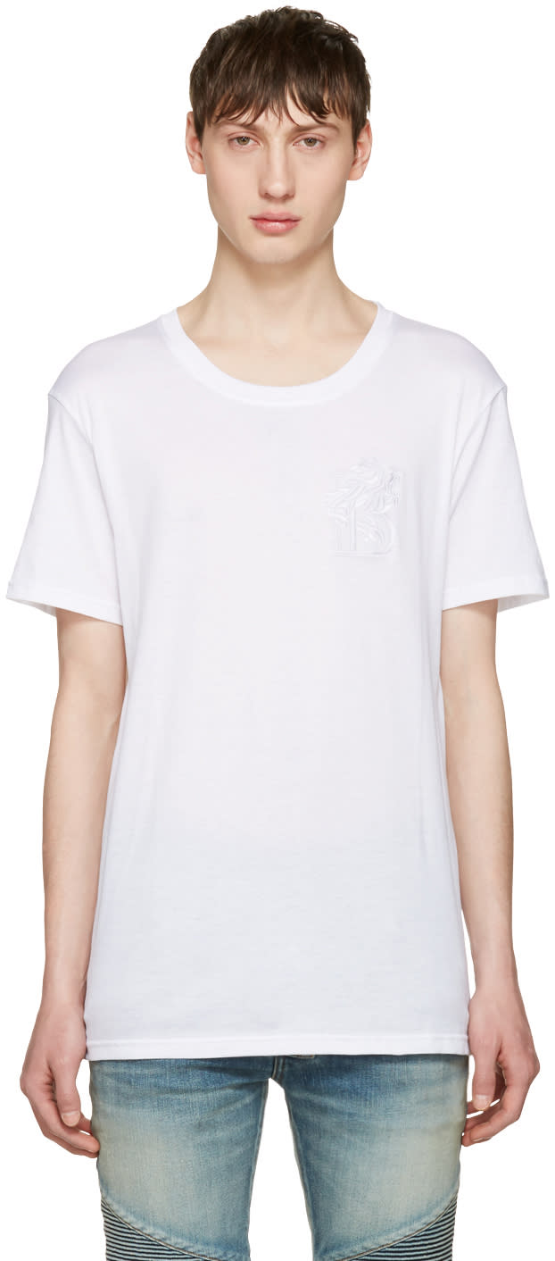 Balmain White Lion T-shirt