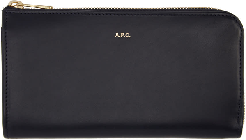 A.p.c. Navy Long Continental Wallet
