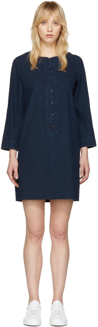 A.p.c. Indigo Louxor Dress