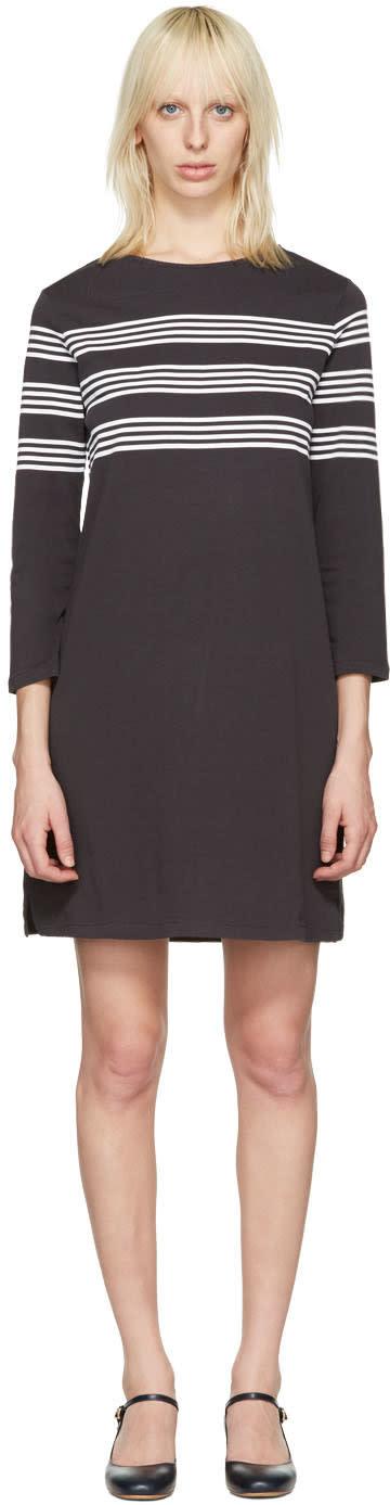 A.p.c. Black Striped Esther Dress