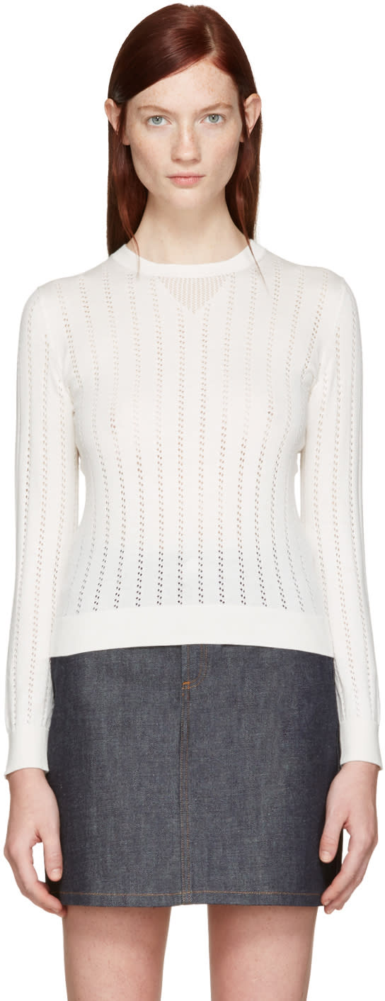 A.p.c. White Annabelle Pullover