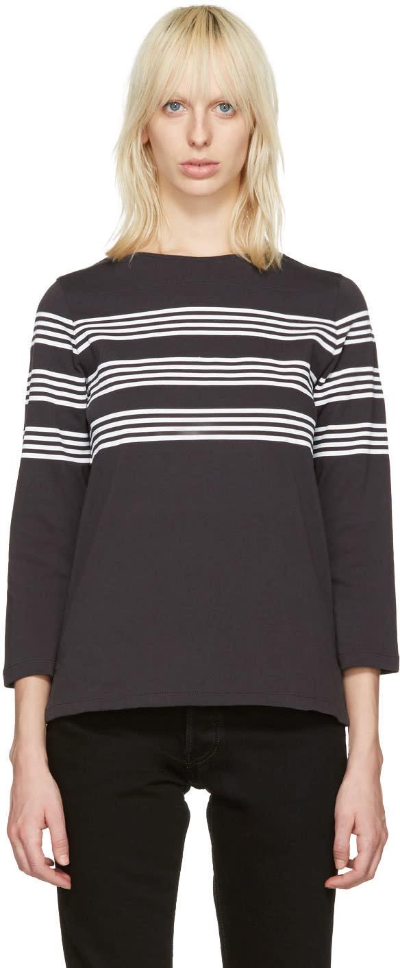 A.p.c. Black Striped Re T-shirt
