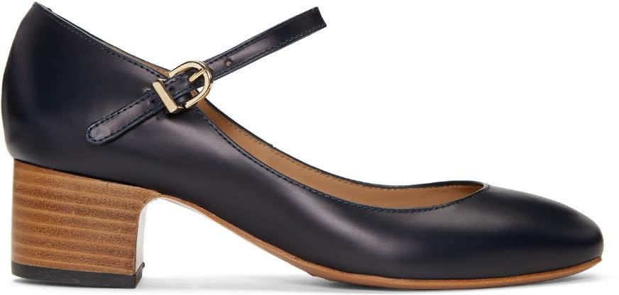 A.p.c. Navy Victoria Heels