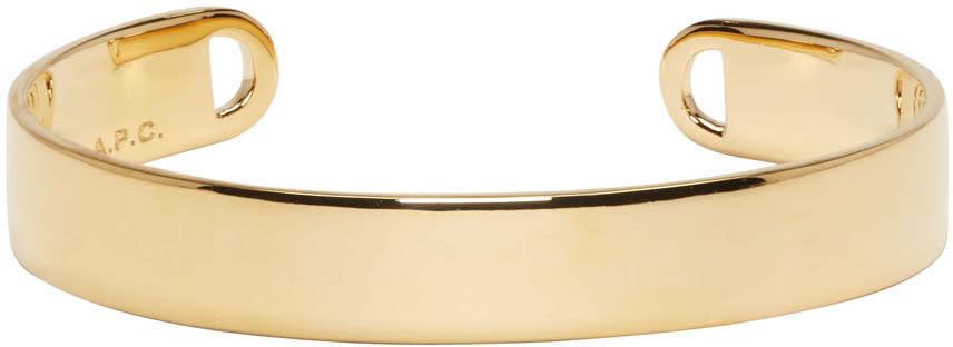A.p.c. Gold Chester Cuff Bracelet