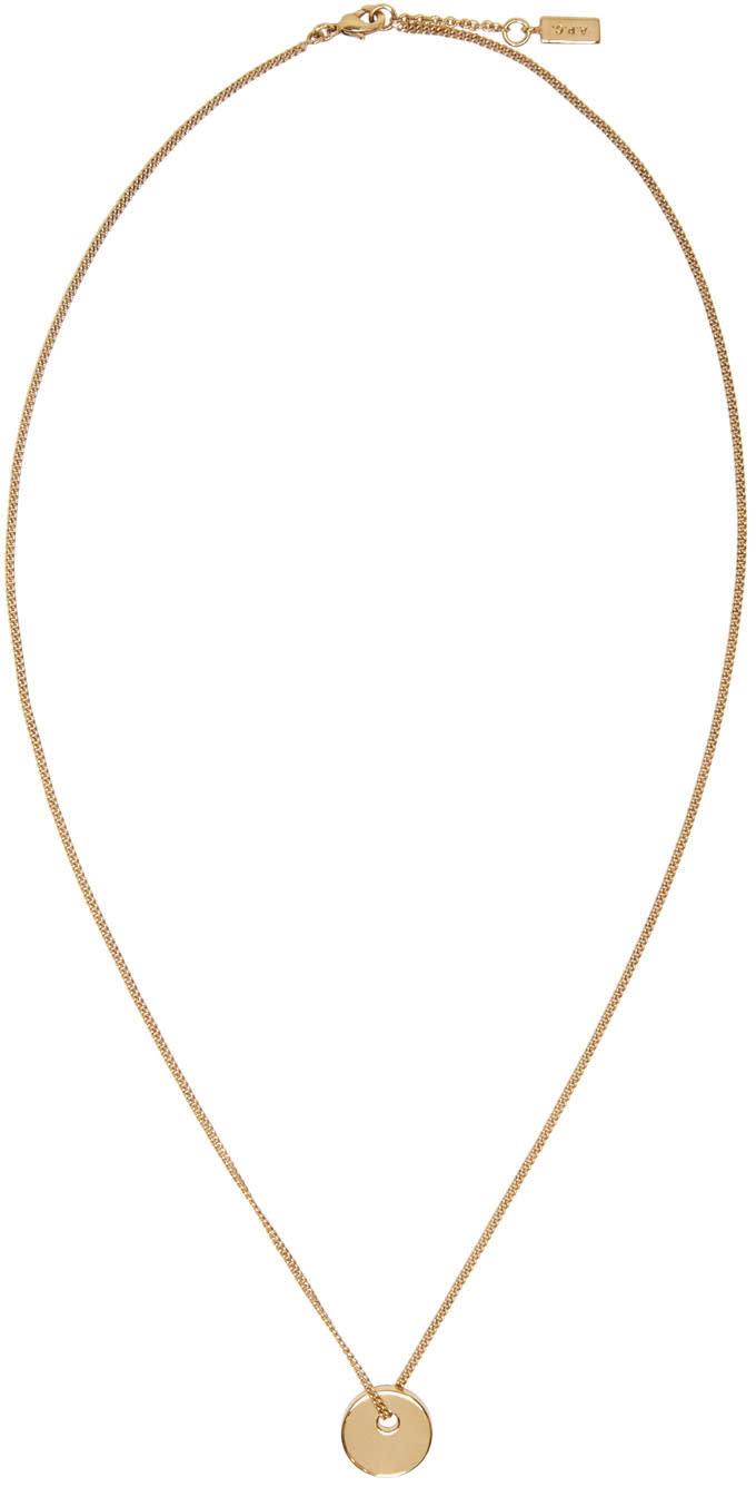 A.p.c. Gold Serge Necklace
