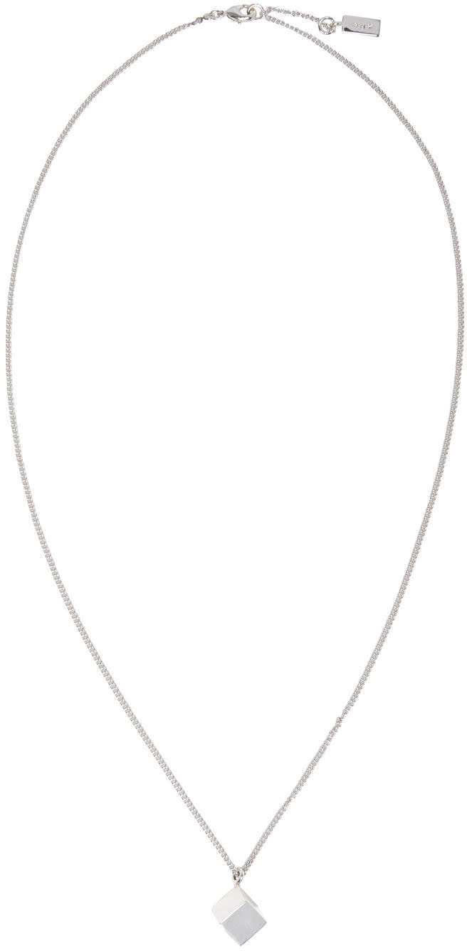 A.p.c. Silver Bristol Necklace