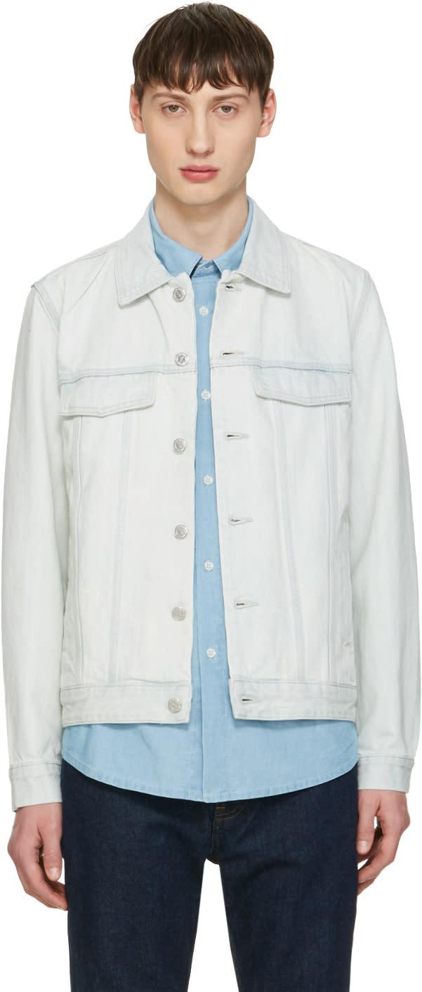 A.p.c. Blue Denim Waren Jacket
