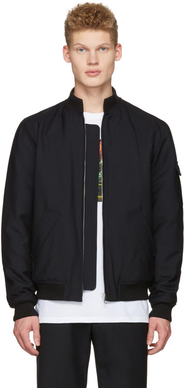 A.p.c. Black Mecano Bomber Jacket