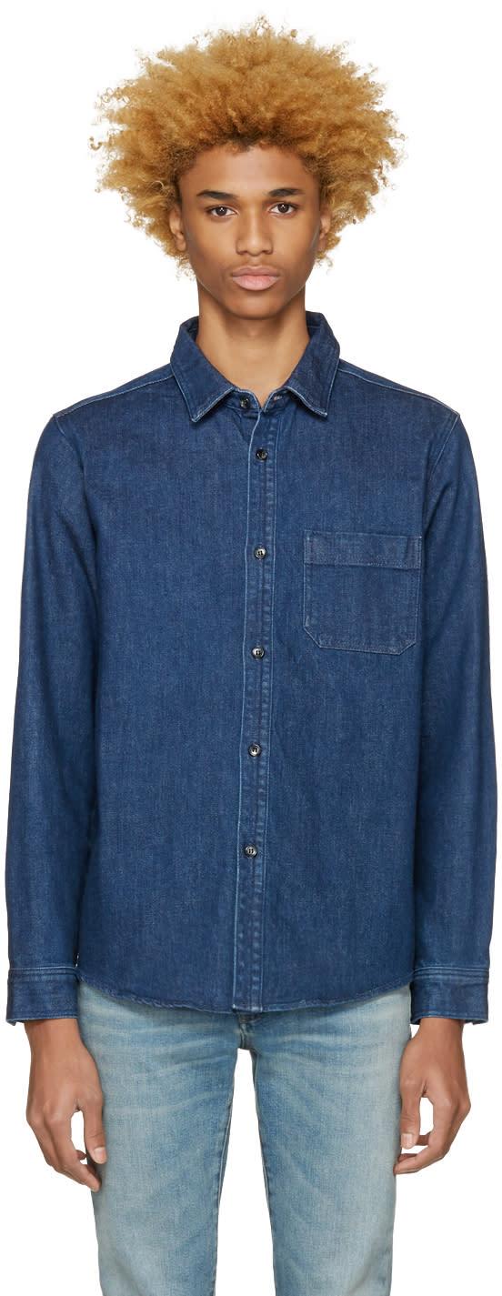 A.p.c. Blue Denim Trevor Shirt