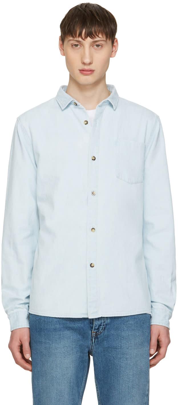 A.p.c. Blue Denim John Shirt