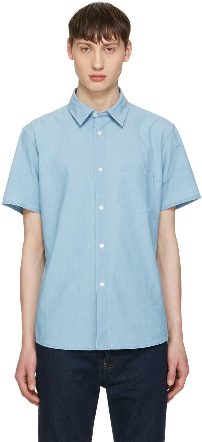 A.p.c. Indigo Chambray Bryan Shirt