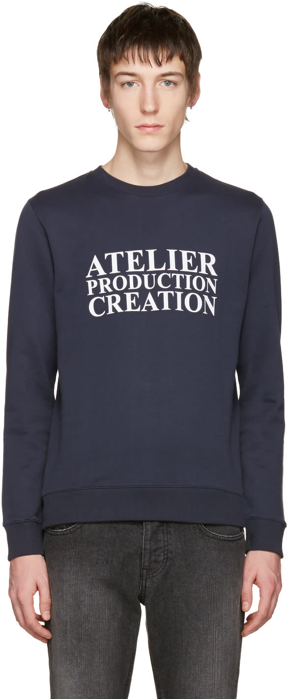 A.p.c. Navy atelier Production Creation Logo Pullover