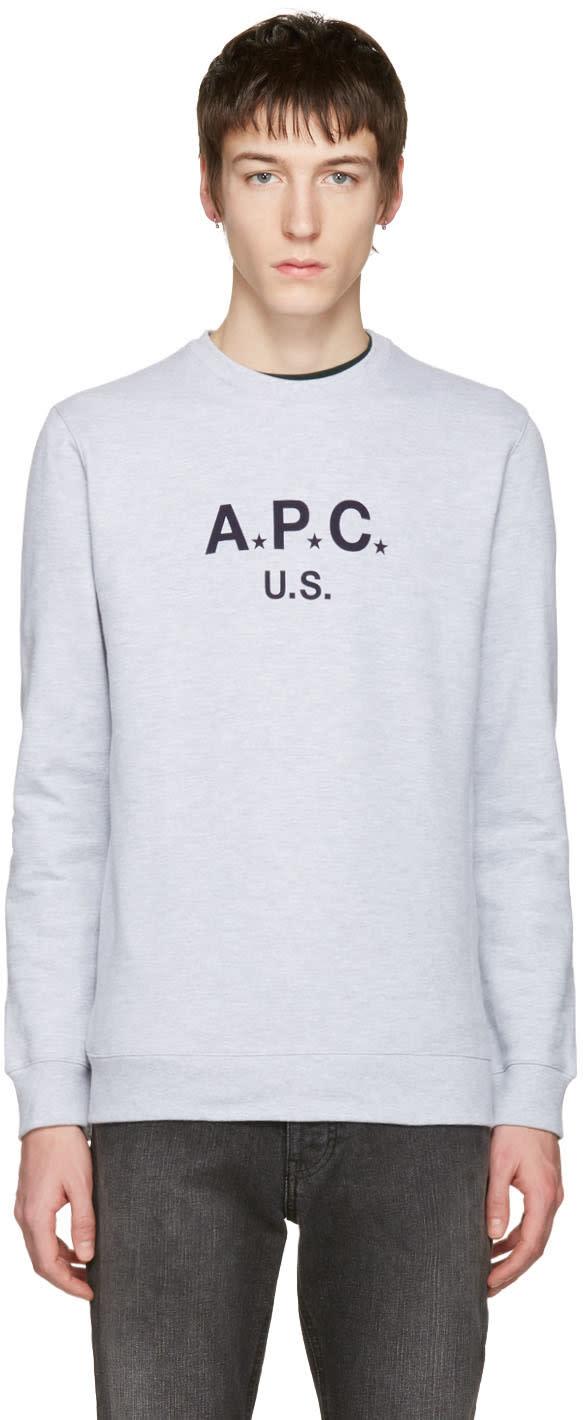 A.p.c. Grey Logo Pullover